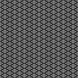 Projetos brancos pretos da repetição do vetor Fotos de Stock