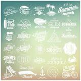 Projetos caligráficos do verão Fotos de Stock Royalty Free