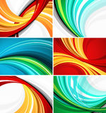 Projetos coloridos do teste padrão do redemoinho Fotos de Stock