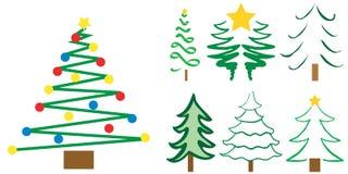 Projetos da árvore de Natal ilustração do vetor
