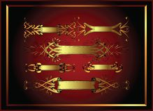 Projetos da bandeira com frame ilustração do vetor