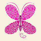Projetos da borboleta ilustração stock