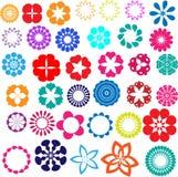 Projetos da flor Ilustração Stock