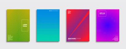 Projetos da tampa do vetor Molde futuro do cartaz Grupo moderno do fundo de Smartphone ilustração stock