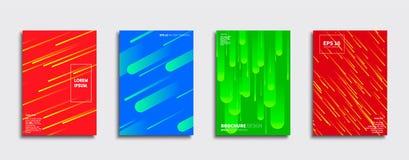 Projetos da tampa do vetor Molde futuro do cartaz Grupo moderno do fundo de Smartphone ilustração do vetor