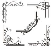 Projetos de canto requintados do Ornamental Imagens de Stock Royalty Free