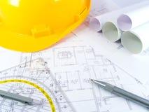 Projetos de edifício Imagem de Stock