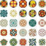 Projetos decorativos florais do círculo ajustados Imagem de Stock Royalty Free