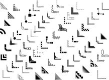 Projetos do canto e da beira do vetor 70+ Fotografia de Stock