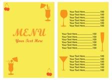 Projetos do molde do menu Fotografia de Stock