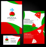 Projetos do molde do menu da pizza Fotografia de Stock