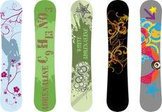 Projetos do Snowboard Imagem de Stock