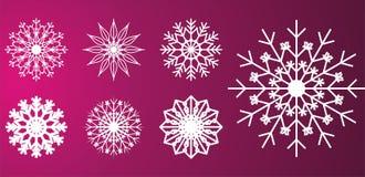 Projetos dos flocos da neve Fotografia de Stock
