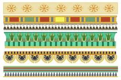 Projetos egípcios antigos do teste padrão ilustração stock