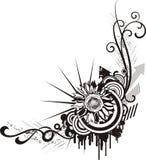 Projetos florais pretos & brancos Imagens de Stock Royalty Free