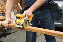 Projetos home do trabalhador manual Imagem de Stock