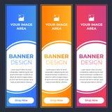 Projetos modernos da bandeira com cores diferentes ilustração do vetor
