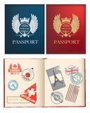 Projetos para um passaporte geral Fotografia de Stock Royalty Free