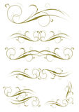 Projetos requintados da decoração do Ornamental e da página Fotos de Stock