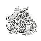Projetos tribais do dragão de Zentangle Imagens de Stock
