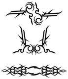 Projetos tribais do tatuagem/vetor Foto de Stock Royalty Free