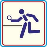 Projets d'impression d'icônes de vecteur de ping-pong Image libre de droits