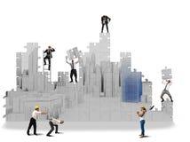 Projets de construction dans 3d Photographie stock libre de droits