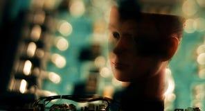 Projets de la réalité AI de la science-fiction de cybernétique photographie stock libre de droits