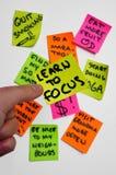 Projets Overambition de tâches de buts. Apprenez à s'orienter Photos libres de droits