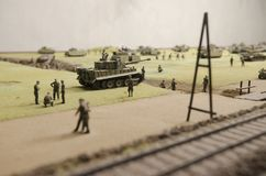 Prokhorovka著名坦克争斗  免版税库存照片