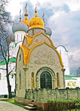 The Prokhorovs' chapel-shrine  and Cathedral Church, Moscow Royalty Free Stock Photos