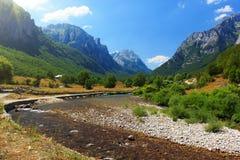 Prokletije国家公园 免版税库存照片