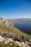 Prokopos Lagoon Stock Photo