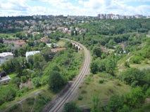 Prokopske谷Panoramatic视图在布拉格 库存图片