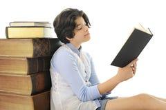 Prolific Teen Reader Stock Photography