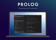 Prolog język programowania royalty ilustracja