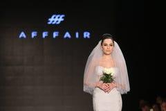 Prolongación del andén de Afffair en Mercedes-Benz Fashion Week Istanbul Imágenes de archivo libres de regalías