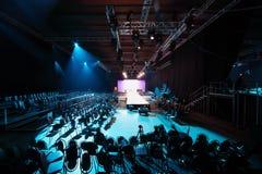 Prolongación del andén en la semana de la moda de Volvo Imagenes de archivo