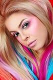 Prolongements de cheveux Image libre de droits