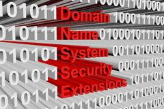 Prolongements de sécurité de Domain Name System Image libre de droits