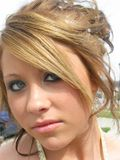 Before Prom Closeup. Closeup of beautiful young girl ready for the prom Royalty Free Stock Photo
