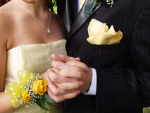 Prom Couple Close-up. Teen couple on prom night Royalty Free Stock Photo
