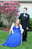 Prom Couple Informal Outdoors Stock Images