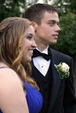 Prom Dates Laughing and Serious Royalty Free Stock Photography