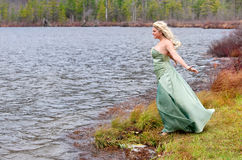 Prom Girl Outside Royalty Free Stock Images