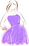 Prom girl in purple dress Royalty Free Stock Photo