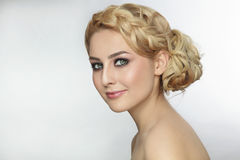 Prom hairdo Royalty Free Stock Photos