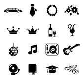 Prom Icons Royalty Free Stock Image
