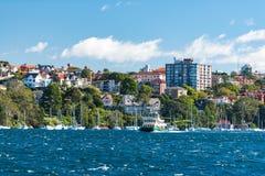 Prom jedzie Sydney schronienie w Cremorne punktu przedmieściu Sydney obrazy royalty free