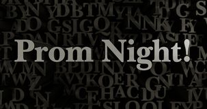 Prom Night! - 3D rendered metallic typeset headline illustration Royalty Free Stock Photo